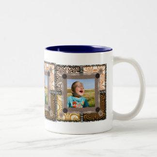 Patchwork Enthusiast Photo Frame Two-Tone Coffee Mug