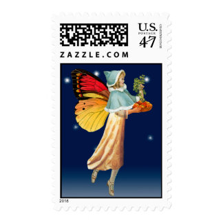 Patchwork Faerie Myrna Postage Stamp