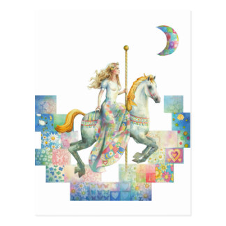 'Patchwork' Fantasy Carousel by Scot Howden Postcard