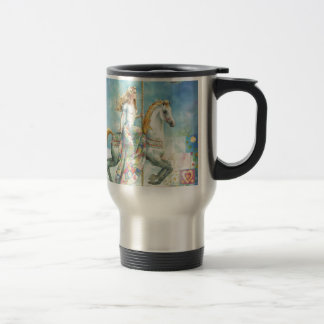 Patchwork, Fantasy Carousel by Scot Howden Travel Mug