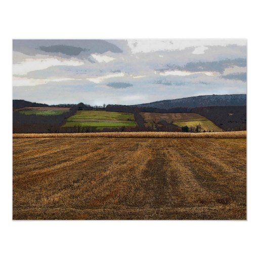 Patchwork Fields Posters