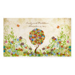Patchwork Flower Tree Damask Tags Business Card Template