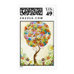 Patchwork Flower Tree Seasons of Love Stamps