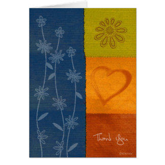 Patchwork Flowers2-Thank You Greeting Cards