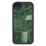 Patchwork, Flowers, Petals, Swirls - Green Case For iPhone 5/5S