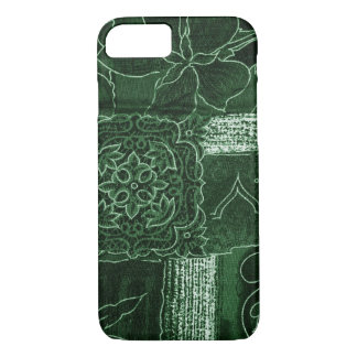 Patchwork, Flowers, Petals, Swirls - Green iPhone 8/7 Case