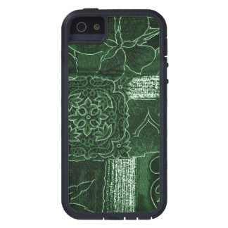 Patchwork, Flowers, Petals, Swirls - Green iPhone SE/5/5s Case