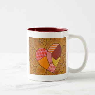 Patchwork Folk-Art Heart Mug