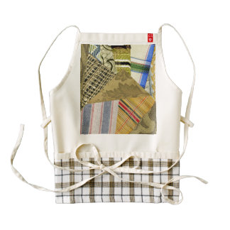 Patchwork Freeform Pieced Effect Zazzle HEART Apron