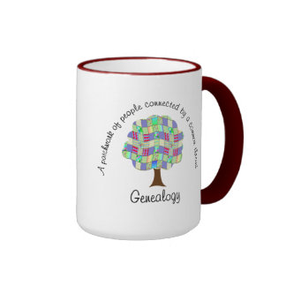 Patchwork Genealogy Ringer Coffee Mug
