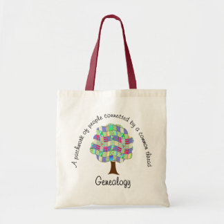 Patchwork Genealogy Tote Bag