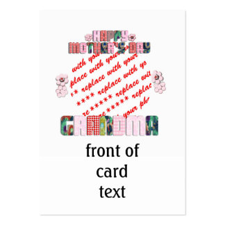 Patchwork 'Grandma' Mother's Day Photo Frame Business Cards