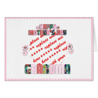 Patchwork 'Grandma' Mother's Day Photo Frame Greeting Cards