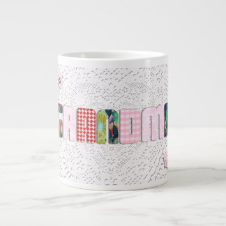 Patchwork 'Grandma' On Lace Large Coffee Mug
