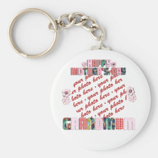 Patchwork Grandmum Mother s Day Photo Frame Keychains