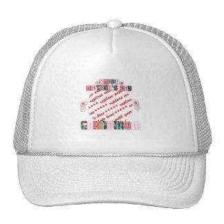 Patchwork 'Grandmum' Mother's Day Photo Frame Mesh Hat