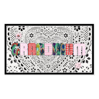 "Patchwork ""Grandmum"" on Lace Double-Sided Standard Business Cards (Pack Of 100)"