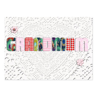"Patchwork ""Grandmum"" on Lace Large Business Cards (Pack Of 100)"