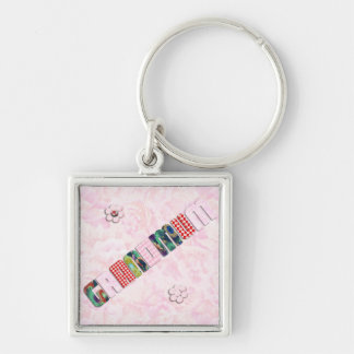 Patchwork Grandmum on Pink Roses Keychains