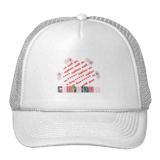 Patchwork 'Grandmum'  Photo Frame Hat