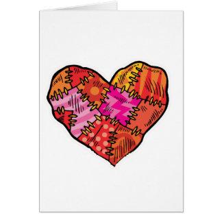 patchwork heart card