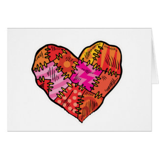 patchwork heart cards