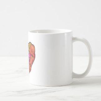 patchwork heart classic white coffee mug