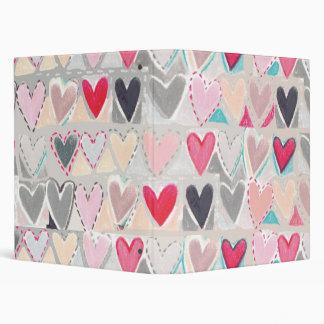patchwork heart folder binder