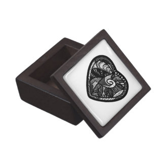 Patchwork Heart Gift Box Premium Jewelry Boxes