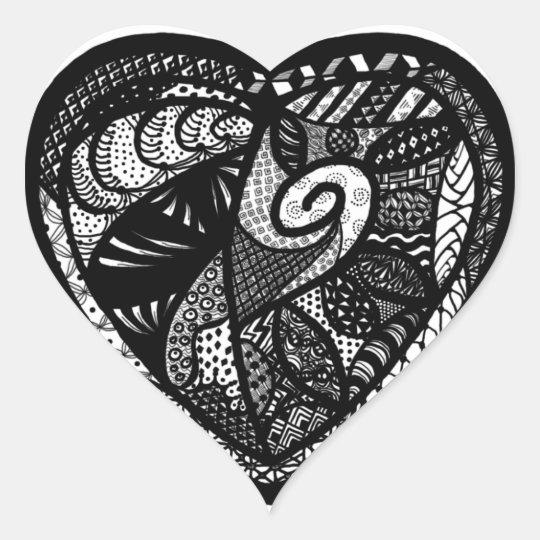 Patchwork Heart - Heart Shaped Sticker