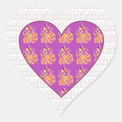 Patchwork  heart heart sticker