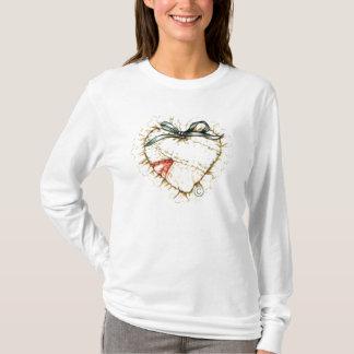 patchwork-heart hoddie T-Shirt