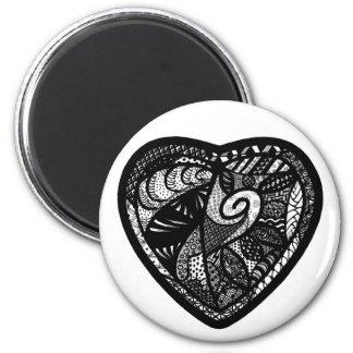 Patchwork Heart Magnet