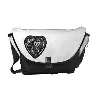 Patchwork Heart Messenger Bag