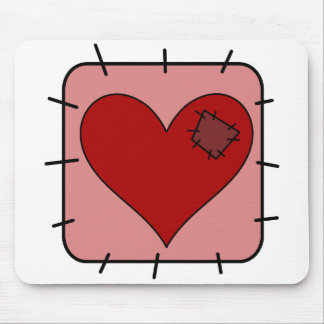 Patchwork Heart Mouse Pad