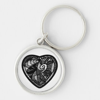 Patchwork Heart Premium Keychain