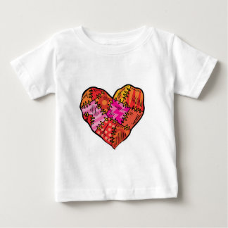 patchwork heart shirt