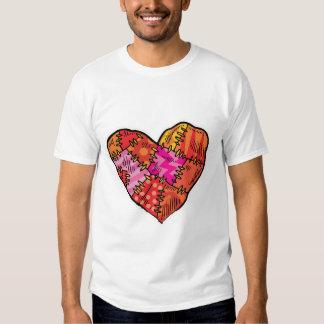 patchwork heart shirts