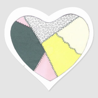 Patchwork Heart Stickers