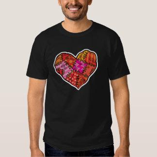patchwork heart t shirt