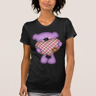 Patchwork Heart Teddy Bear T-Shirt