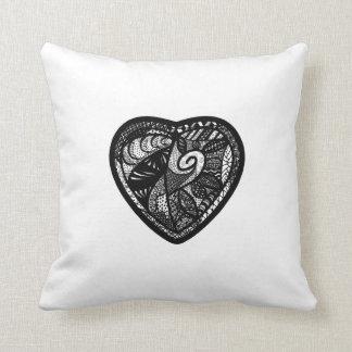 Patchwork Heart Throw Pillow