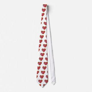 patchwork heart tie