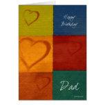 Patchwork Hearts-BDDad Card
