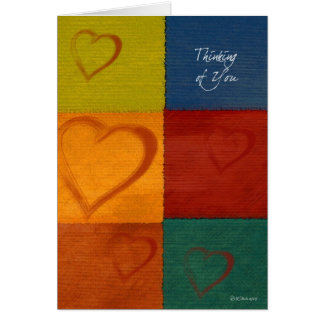 Patchwork Hearts-Thinking of Greeting Card