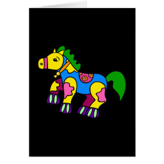 Patchwork Horse Card