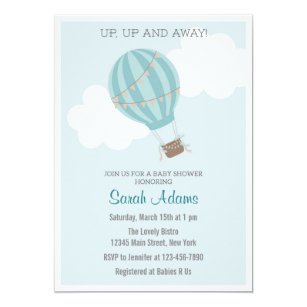 Hot air balloon baby shower invitations announcements zazzle patchwork hot air balloon baby shower invitation filmwisefo