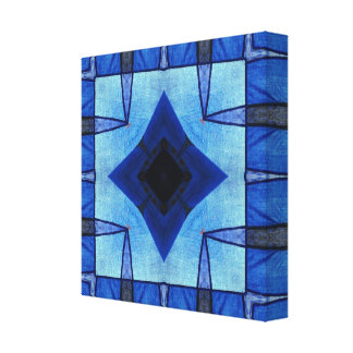 Patchwork in Blue Canvas Print