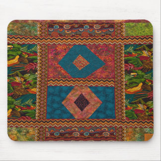 Patchwork-indo-mouse Mouse Pad