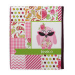 Patchwork Inspired Pink Owl iPad Folio iPad Folio Case